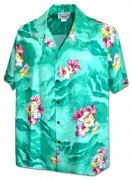 Men's Hawaiian Shirts Allover Prints - 410-3902 Green