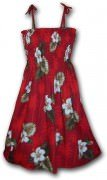 Pacific Legend Hawaiian Tube Dress - 332-2798 Red