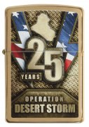 Zippo Pocket Lighter Operation Desert Storm Brushed Brass