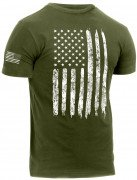 Rothco Distressed US Flag Athletic Fit T-Shirt Olive Drab 2832