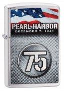 Zippo Pearl Harbor 75th Anniversary Brushed Chrome Pocket Lighter