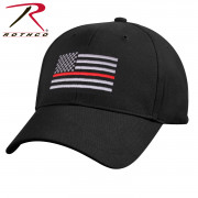 Rothco Thin Red Line Flag Low Profile Cap Black 9896