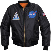 Rothco NASA MA-1 Flight Jacket Black 7328