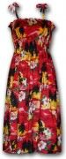 Pacific Legend Hawaiian Tube Dress - 332-3104 Red