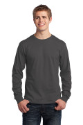 Port & Company Long Sleeve Core Cotton Tee Charcoal PC54LSCH