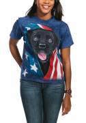 The Mountain T-Shirt Patriotic Black Lab Pup 105972