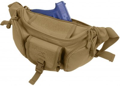 Сумка поясная Rothco Tactical Concealed Carry Waist Pack Coyote Brown 4956, фото