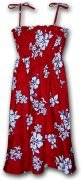 Pacific Legend Hawaiian Tube Dress  332-3156 Red