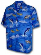 Men's Hawaiian Shirts Allover Prints 410-3626 Blue