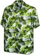 Men's Hawaiian Shirts Allover Prints - 410-3908 Green