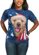 The Mountain T-Shirt Patriotic Golden Pup 105905