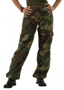 Rothco Womens Vintage Paratrooper Pant Woodland Camo 3386