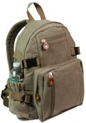 Rothco Vintage Canvas Compact Backpack Olive Drab 9152
