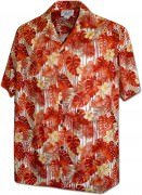Men's Hawaiian Shirts Allover Prints - 410-3908 Orange