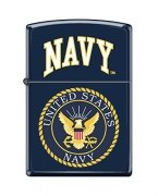 Zippo Lighter US Navy Logo Navy Matte Seal