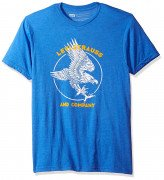 Levis Mens T-Shirt with Amercan Eagle Graphic Royal Heather