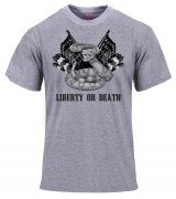 Rothco Military Printed T-Shirt - Grey / Liberty or Death # 61530