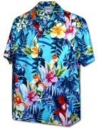 Men's Hawaiian Shirts Allover Prints - 410-3916 Aqua