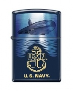 Zippo Lighter US Navy Logo Navy Matte Submarine