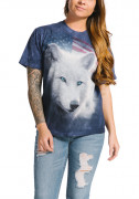The Mountain T-Shirt Patriotic White Wolf 105967