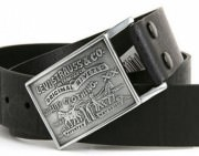 Ремень Levi's Mens Leather Belt - Black