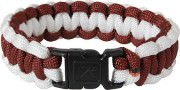 Rothco Two-Tone Paracord Bracelet Maroon/White 942