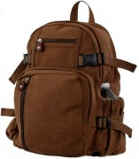 Рюкзак Rothco Vintage Canvas Mini Backpack / Brown # 9743