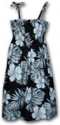 Pacific Legend Hawaiian Tube Dress - 332-3589 Black