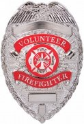 Rotcho Deluxe Fire Department Badge Silver - 1928