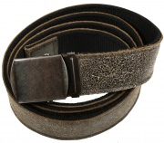 Rothco Reversible Vintage Leather/Poly Web Belt Black/Black - 4307
