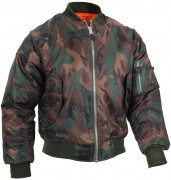 Rothco MA-1 Flight Jacket Woodland Camo