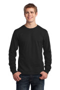 Port & Company Long Sleeve Core Cotton Tee Jet Black PC54LSJB