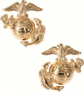 Петлицы Enlisted Marine Corps Dress Collar Insignia - Gold