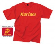 Rothco Marines Printed T-Shirt Red 60163