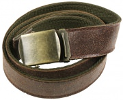 Rothco Reversible Vintage Leather/Poly Web Belt Brown/Olive - 4306