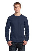 Port & Company Long Sleeve Core Cotton Tee Navy PC54LSN