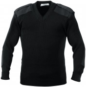 Rothco GI Style Acrylic V-Neck Sweater Black 6345