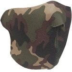 Полумаска неопреновая Rothco Neoprene Reversible Half-Face Mask - Camo & Black