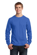 Port & Company Long Sleeve Core Cotton Tee Royal PC54LSR