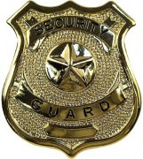 Rothco Security Guard Badge Gold 1904