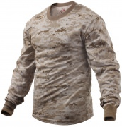 Rothco Long Sleeve T-Shirt Desert Digital Camo - 5742