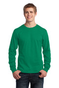 Port & Company Long Sleeve Core Cotton Tee Kelly PC54LSK