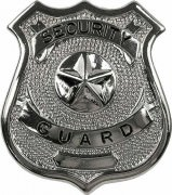 Rothco Security Guard Badge Silver 1900