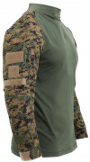 Rothco Tactical Airsoft Combat Shirt Woodland Digital Camo 45030