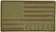 Rothco Veteran US Flag Patch Olive/Coyote 1873