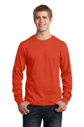 Port & Company Long Sleeve Core Cotton Tee Orange PC54LSO