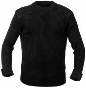 Rothco GI Style Acrylic Commando Sweater Black 6347