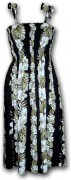 Pacific Legend Hawaiian Tube Dress - 332-3638 Black