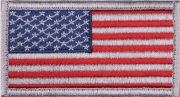 Rothco American Flag Patch Full Color with Silver Border / Forward - 17750