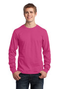 Port & Company Long Sleeve Core Cotton Tee Sangria PC54LSS